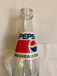 Vintage French Pepsi Bottle Washington, 20018