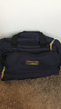 blue and black Ciao duffel bag