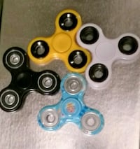 four assorted color 3-blade fidget spinners