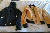 black and yellow zip-up jacket Sainte-Julie, J3E