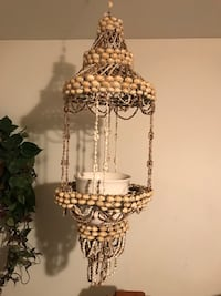 Hanging seashell plant stand