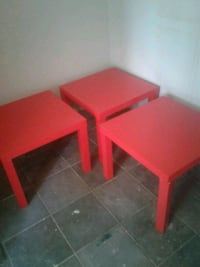 Three Red IKEA Side/End Tables Washington, 20015