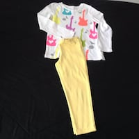 Set of Shirt &  yellow stretch  pants. In excellent condition size 5/6 Hamilton, L8V 4K6