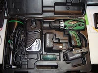 Hitachi 12V 2 Speed Drill and Light Combo, 2 batteries, charger and bits  with carrying case Tulsa
