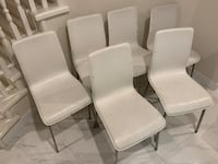 6 White Dining Chairs From Inspiration Coquitlam, V3B 5R5