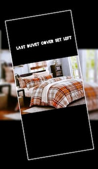 Five pieces with duvet cover and 4 pillow case cotton  Mississauga, L5V