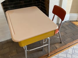 Vintage Children's School Desk with Chair