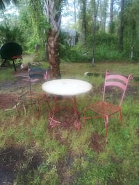 round brown wooden table with two chairs Naples, 34120