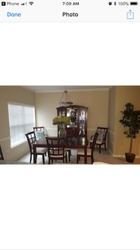 black wooden dining table set KENNESAW