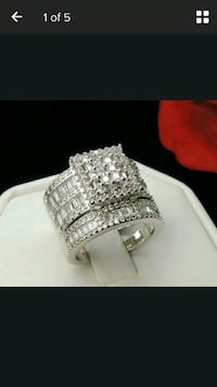 Engagement ring  Sterling silver size 6