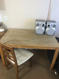 Brown wooden table with chair Edmonton, T5X 0C3