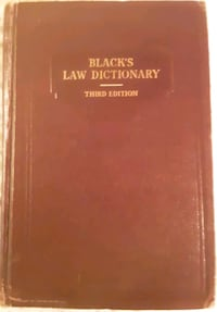 Black's Law Dictionary-3rd Edition