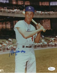 Dodgers Maury Wills certified autograph picture Lakewood, 90712