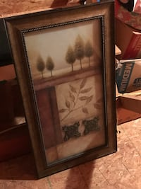 rectangular brown wooden framed painting of a woman Pendleton, 29670
