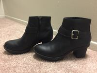 Women's black leather booties Ypsilanti charter township, 48197