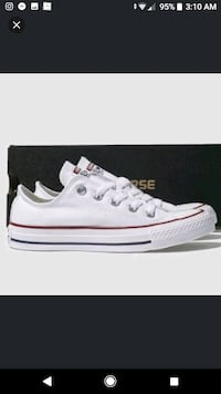 unpaired white Converse All Star high top sneaker Singapore