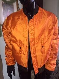 """SAFETY JACKET """"REVERSIBLE"""" Men's Large with Pen/Notebook holder Zippered/Snaps New/UNUSED"""