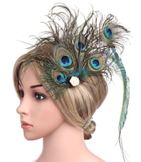 Great gatsbty pearl feather headpiece