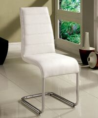 Brand New Mauna 2 White Leatherette/Chrome Side Chairs by Furniture of America 2272 mi