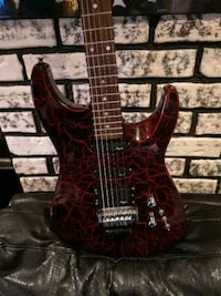 red and black electric Vintage guitar. 80s style f Calgary, T2B 2J6