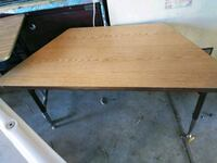 rectangular brown wooden coffee table Merced