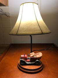 Vintage car table lamp