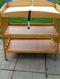 brown wooden 3-layer changing table Dunnville, N1A 2W8