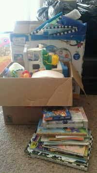 Baby/toddler toys and books and baby play mat  Grande Prairie, T8V 1P4