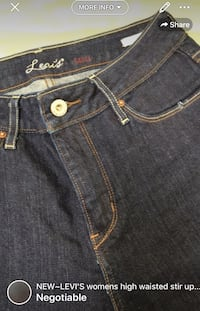 NEW~LEVI'S womens high waisted stir up jeans size 26 London, N5W 6E3