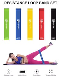 Brand new 5 pack resistance bands New Westminster, V3M 3X4
