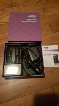 black efest luc LCD universal charger in box