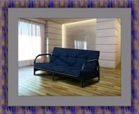 Black futon frame with mattress Laurel
