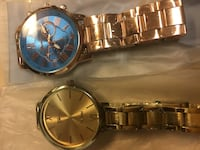 round gold analog watch with link bracelet Tampa, 33605