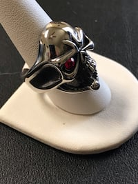 Men's titanium skull ring #17 Denver, 80221