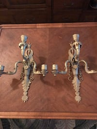 Solid brass wall candle holders Dana Point, 92624