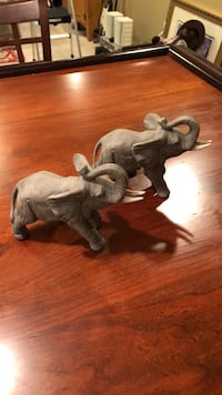 Two Ceramic Elephants