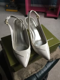 pair of white leather pointed-toe pumps New Tecumseth, L9R