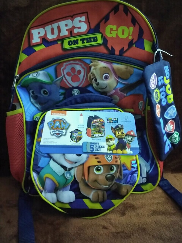9b75ac36a1 Used Paw Patrol 5 piece backpack set with lunch bag for sale in  Philadelphia - letgo