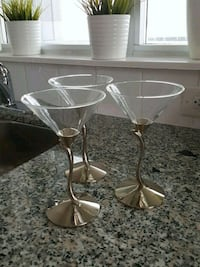 Beautiful Bowring 7 martini glasses Toronto