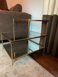 Gold & Glass side tables