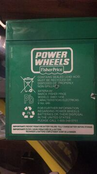 Battery fisher price Mississauga, L5W 1G1
