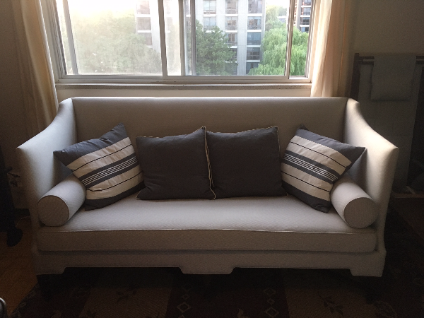 Tuxedo couch with down pillows TORONTO