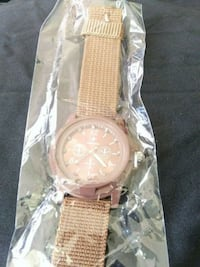 round gold-colored chronograph watch with brown leather strap Baltimore, 21214