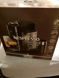 Brand New Nespresso Vertuo with the Aeroccino and pods Vaughan