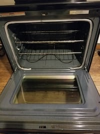 Stainless steel and black  oven 1 mi
