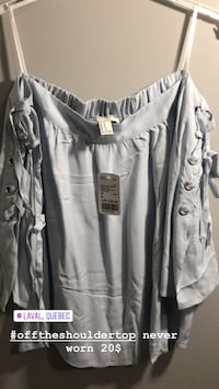 gray and white button-up long-sleeved shirt Laval, H7T 1W8