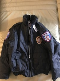 Jacket USA private Black zip-up