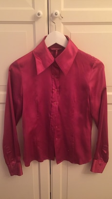 Real silk dark pink shirt