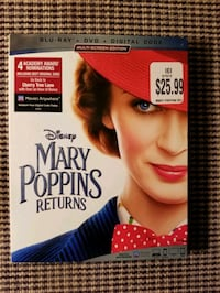 Mary Poppins Returns Blu-Ray, DVD and Digital code Galloway, 43119