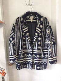 Navy and white patterned jacket VANCOUVER
